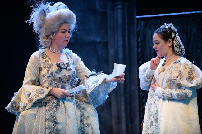 Caroline Knight as Mrs Arthur and Chloe Malandra as Beatrice Jasper