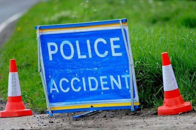 Car and lorry crash on M6