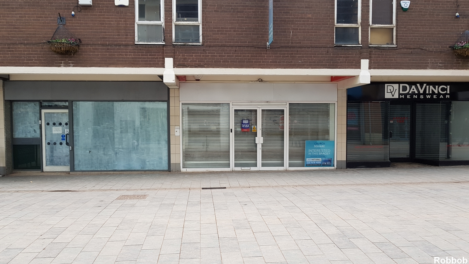 Empty shops on Church Street in 2018 Pic: Robbob