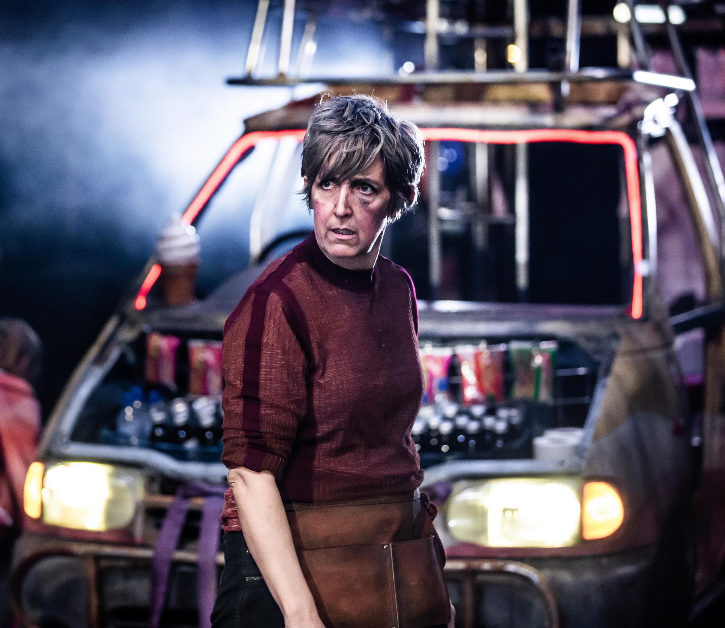 Julie Hesmondhalgh as Mother Courage.  Picture: The Other Richard