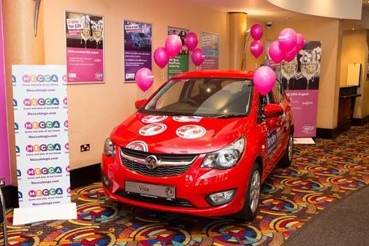 Chance to drive off with new car ay Mecca Bingo next weekend