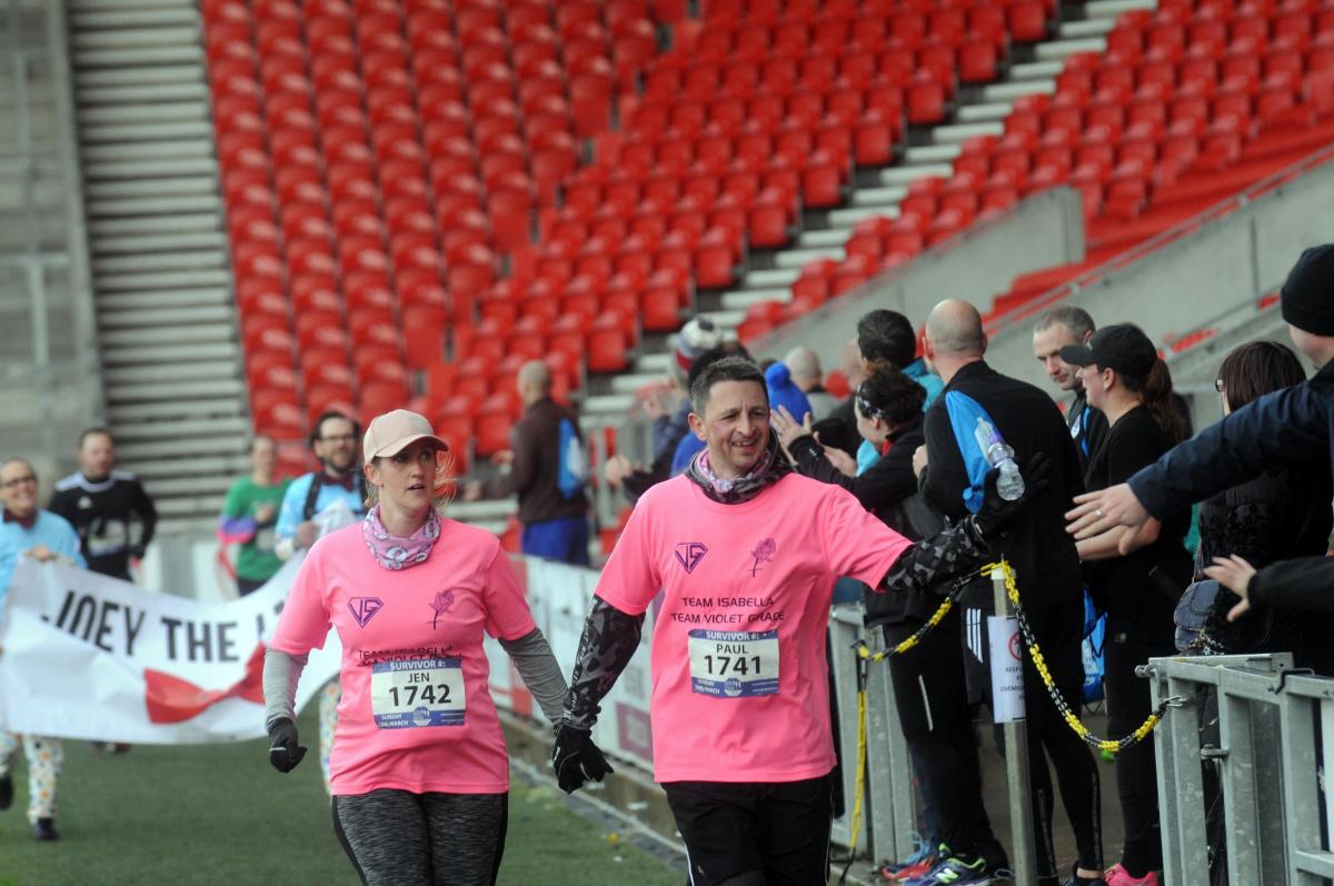 The St Helens 10k finish line pictures and words from the winners