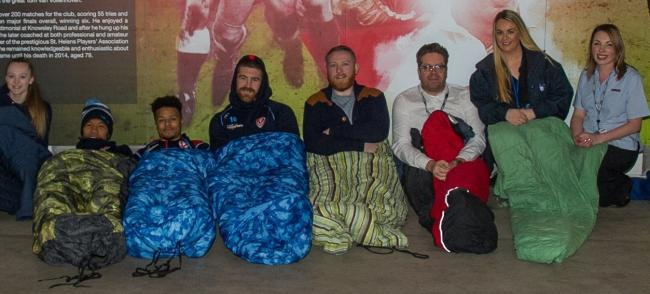 Send us your selfies: Residents and rugby fans to sacrifice good nights sleep for the Saints Community Sleep out tonight