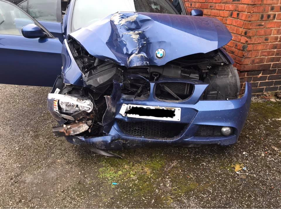 Burglars break into home as family slept - and make off in car crashing into lamppost at 60mph