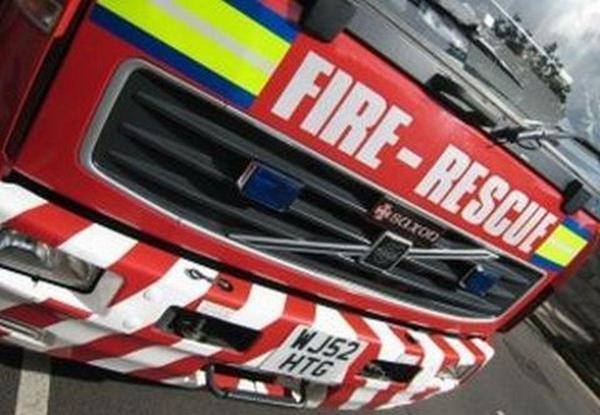 Two fire engines attended