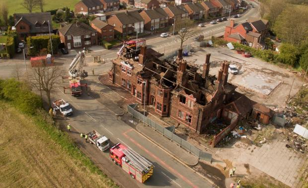 Building control sent to former Green Dragon pub after it was ravaged by fire
