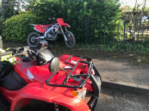 Police seize two off-road bikes as they aim to stop riders ruining Easter sunshine for communities