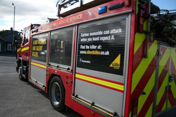 One fire engine was called to Warrington Road in Rainhill at 8.05pm yesterday, Monday