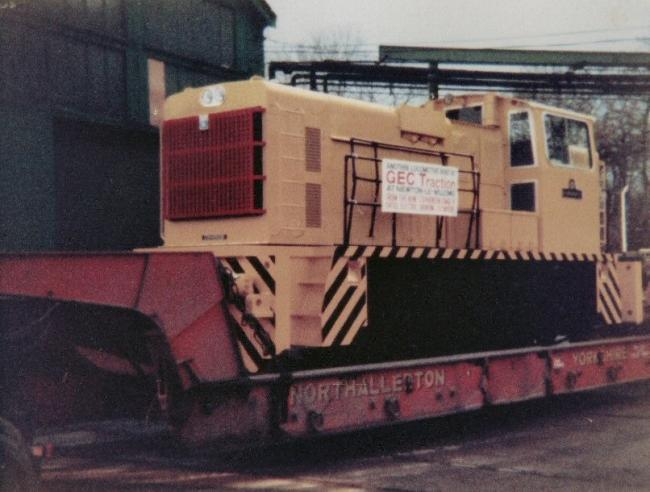 The locomotove, which was built in 1976
