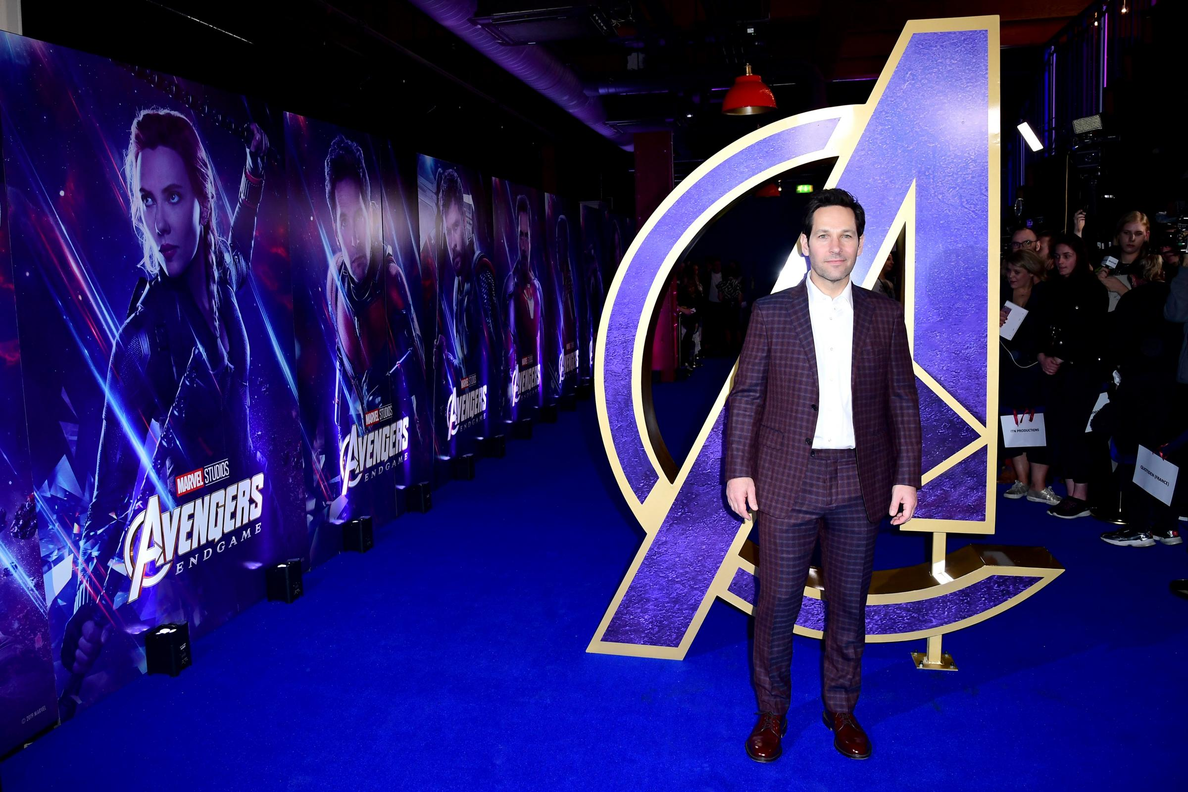 Paul Rudd at an Avengers: Endgame fan event at Picturehouse Central in London