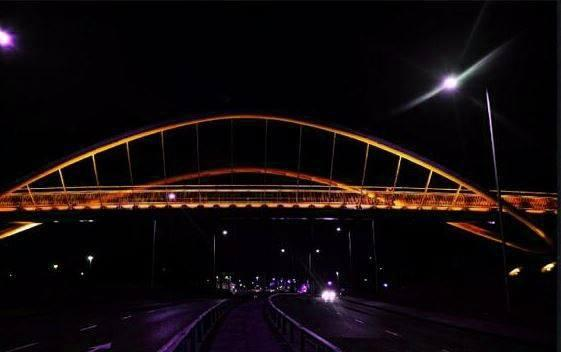 Steve Prescott Bridge to be lit up orange tonight to commemorate second anniversary of Manchester Arena attack